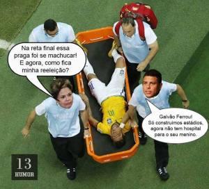 dilma, neymar and ronaldo